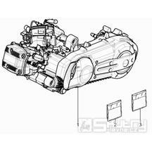 1.02 Motor, těsnění motoru - Gilera Nexus 500 4T LC 2009-2011 (ZAPM35200)