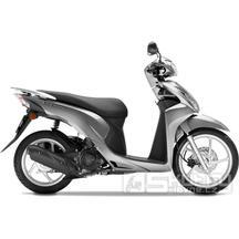 Honda Vision 110 - AKCE 53900Kč - barva stříbrná