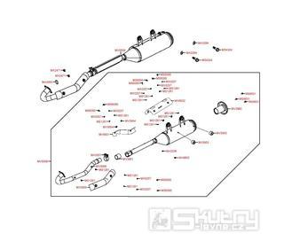 F14 Výfuk - Kymco MXU 500 IRS DX LOF LAA0ED