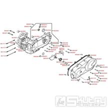 E01 Skříň klikové hřídele / kryt variátoru - Kymco Agility 125 MMC