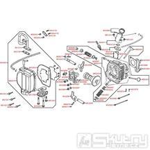E02 Hlava válce / ventily - Kymco Agility 50 4T KG10SA