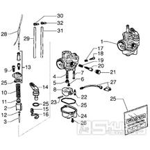 T12 Karburátor - Gilera H@K 50ccm EBS od roku 2001 (VTBC33100...)