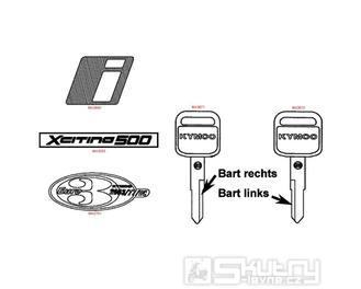 F25 Polotovary klíčů / Fixy pro opravu laku - Kymco Xciting 500i [AFI]