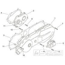 29.35 Kryt variátoru, kryt převodů - Scarabeo 100 2T (motor Minarelli) 2000 - ZD4REA...
