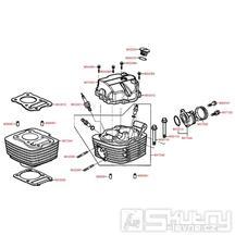 E01 Válec, hlava a ventilové víko - Kymco PULSAR 125 [RJ25CB]
