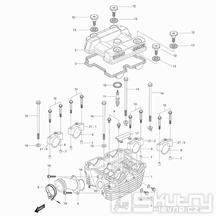 01h Hlava válce zadní - Hyosung GV 250 Aquila