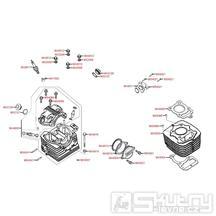 E01 Válec / Hlava válce - Kymco PULSAR 125 II [KE25RF]