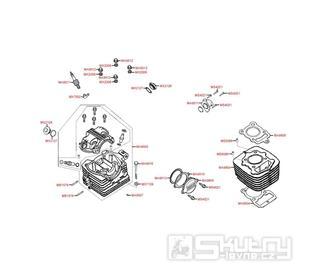 E01 Hlava a válce motoru - Kymco PULSAR 125 M