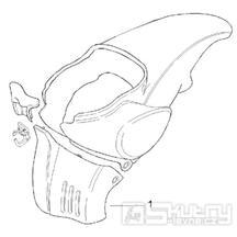 28.13 Centrální plast - Scarabeo 50 2T (motor Minarelli) 1993-1997 - 072, 081, 081P1, 092, 094