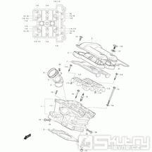 01h Hlava válce zadní - Hyosung GV 650 Fi