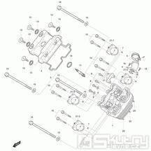 01v Hlava válce přední - Hyosung GT 125 N E3 (Naked)