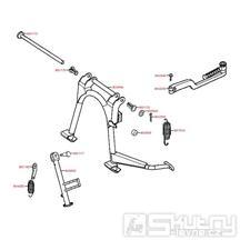 F16 Hlavní stojan / boční stojan / nakopávací páka - Kymco Vitality 50 2T