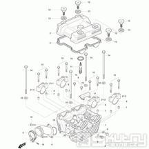01h Hlava válce zadní - Hyosung GT 250 R