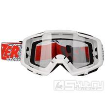 Crossové brýle Lazer Track White/White/Red