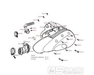 F14 Vzduchový filtr - Kymco Dink 50 SH10C