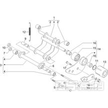 4.01 Uložení motoru -  Gilera Runner 125 VX 4T 2007 (ZAPM46300)
