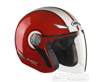 Přilba Lazer TEMPO Trendy MK - barva červená, velikost XS