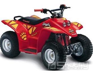 Malaguti Grizzly ATV - pozastavená výroba - barva červená
