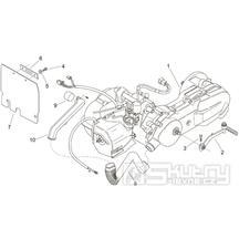 29.23 Motor - Scarabeo 100 2T (motor Minarelli) 2000 - ZD4REA...