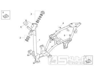 28.01 Rám - Scarabeo 50 2T (motor Minarelli) 1998 - ZD4PF00/1/2/3, ZD4PFA/B/C/D/E