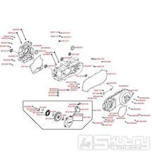 E01 Kryt variátoru / Skříň klikové hřídele - Kymco MXU 300