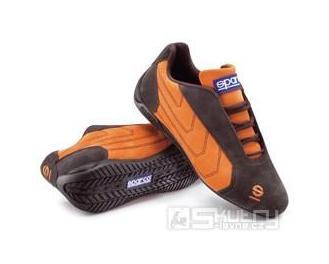 Boty Sparco PIT LANE WINTER - velikost 36, barva hnědá/oranžová