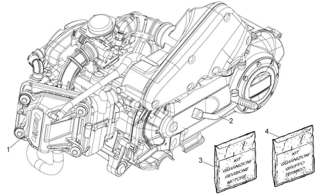 29.20 Motor, těsnění motoru - Scarabeo 50 4T 4V E2 2009 (ZD4TGE00)