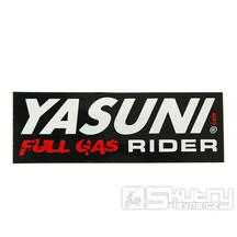 Nálepka Yasuni Full Gas Rider 110x38mm