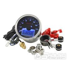 Otáčkoměr KOSO GP Style II - 16.000 ot../min modrý