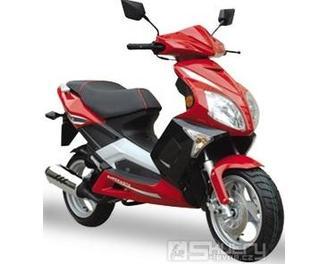 Motorro KING 125 - barva červená