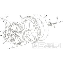 28.25 Přední kolo - Scarabeo 100 2T (motor Minarelli) 2000 - ZD4REA...