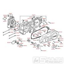 E01 Kliková skříň kompletní / kryt variátoru - Kymco Grand Dink 125 E3