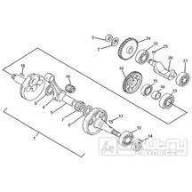 1.06 Kliková hřídel - Gilera SC 125 2006 (6H332629, VTHGS1A1A, VTHGS1A1B)
