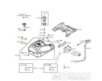 F10 Nádrž a palivoměr - Kymco MXU 500 IRS DX LOF LAA0ED