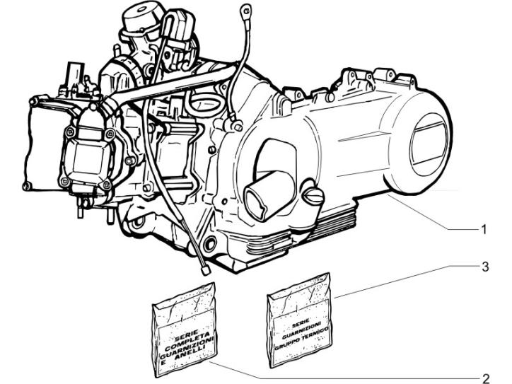 1.02 Motor, těsnění motoru - Gilera Runner 200 VXR 4T LC 2006 UK (ZAPM46400)