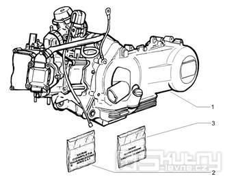 1.02 Motor, těsnění motoru - Gilera Runner 200 VXR 4T LC 2006 (ZAPM46400)