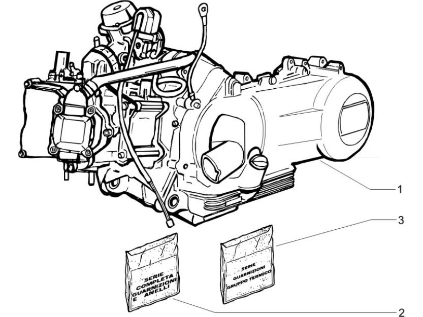 1.02 Motor, těsnění motoru - Gilera Nexus 125 4T LC 2007-2008 (ZAPM35700)