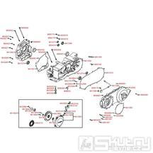 E01 Skříň klikové hřídele / Kryt variátoru - Kymco MXU 250