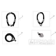30.47 Zámek na kotoučovou brzdu, řetězový zámek - Scarabeo 50 4T 2V E2 2006-2009 (ZD4TGA, ZD4TGB)
