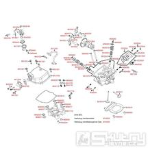 E02 Hlava válce / Ventily - Kymco MXU 250