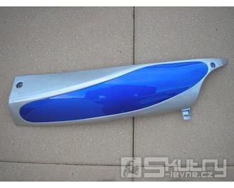 Levá spodní lyžina lakovaná - Cyborg ACE - barva modrá/stříbrná