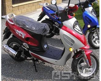 Cyborg ACE 125 v základní výbavě - barva červená