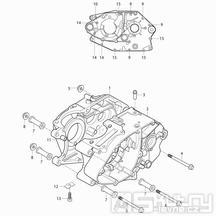 03 Skříň klikové hřídele - Hyosung RX 125D E3 (XRX 125D E3)