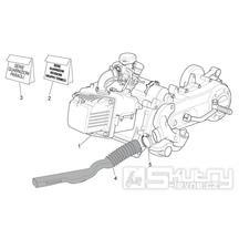29.21 Motor, těsnění motoru - Scarabeo 100 4T E3 NET 2009 (ZD4VAC..., ZD4VAA...)