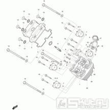 01v Hlava válce přední - Hyosung GT 250 R