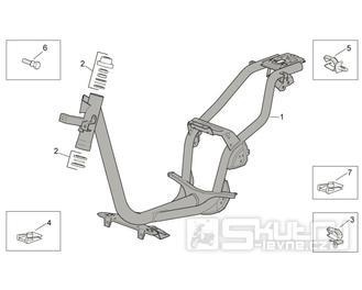 28.01 Rám - Scarabeo 100 4T E3 2014 (ZD4VAB00)