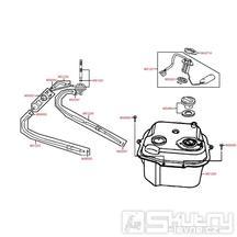 F10 Nádrž a palivový kohoutek - Kymco Vitality 50 2T