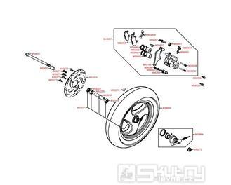 F07 Přední kolo s brzdou - Kymco Dink 50 SH10C