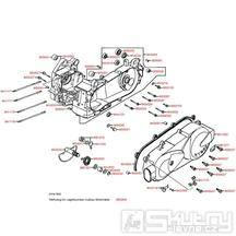 E01 Kryt variátoru / Skříň klikové hřídele - Kymco Movie XL 125