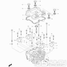 01h Hlava válce zadní - Hyosung GT 250i R